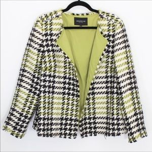LAFAYETTE 148 New York Wool and Mohair Open Blazer